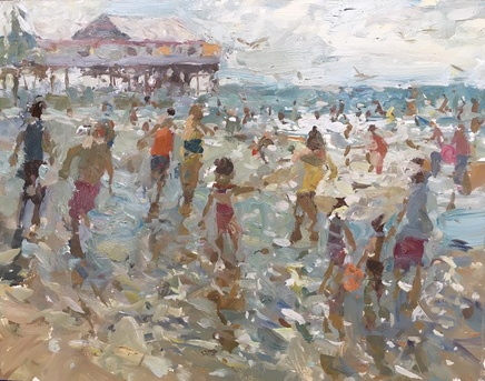 Adam Ralston MAFA, Fun At The Beach, 2018